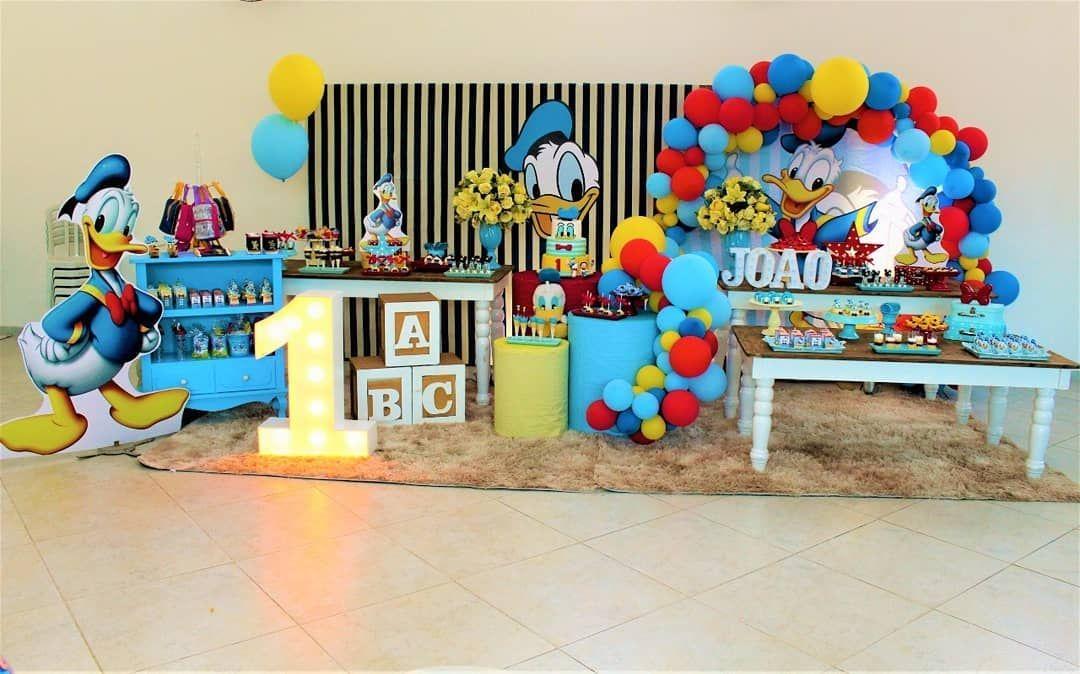 Festapatodonald Amordejoaorafa Birthday Balloon Decorations Balloon Decorations 1st Birthday