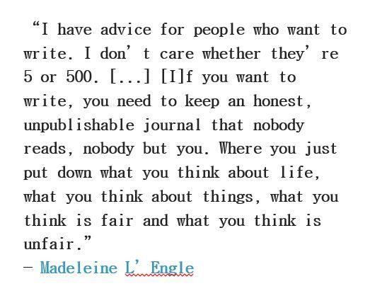 Writers write. Always.