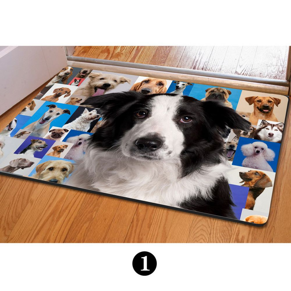 PhoRock 3D Cute Dog Door Printing Antiskid Floor Mats
