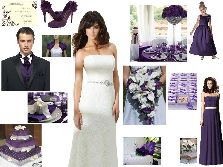 Loving These Colours Purple Cream Silver Dream PANTONE WEDDING Styleboard