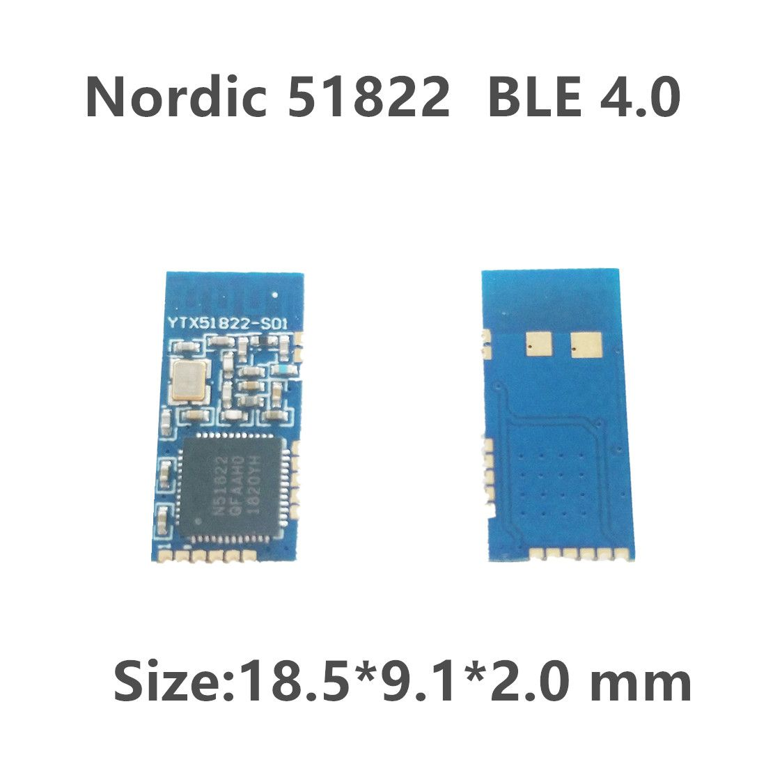 Nordic BLE 4.0 nRF51822 Controller Chip Bluetooth Module Small Size 18.5 x 9.1x 2.0mm 5 Pack