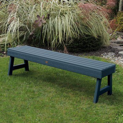 Darby Home Co Trigg Backless Plastic Picnic Bench | Birch Lane