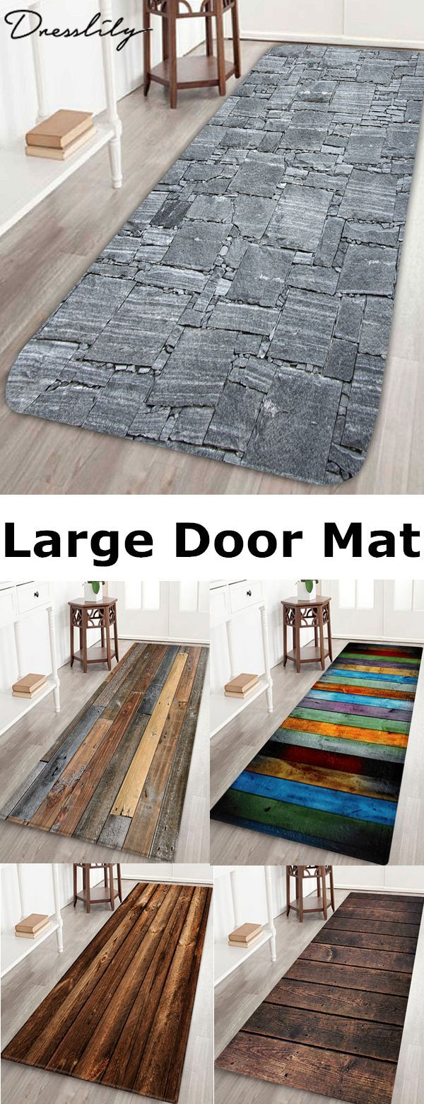 Buy 1 Get 10 Off Wood Board Print Water Resistant Floor Mat Dresslily Thanksgiving Home Design Decor Cheap Patio Floor Ideas Small Space Interior Design