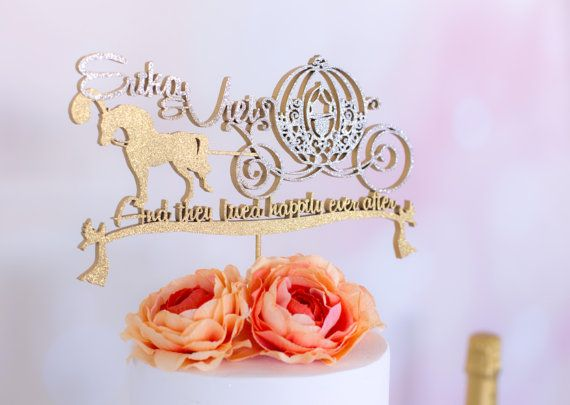 Disney Wedding Cake Topper Cinderella Horse Carriage Fairy Tale Series And They Lived Hily Ever After Inspired