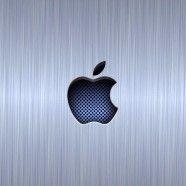 Apple logo cool blue silver