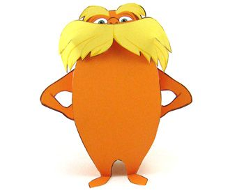 photo regarding Lorax Printable named Lorax 3d papertoy. I utilized this alongside with my truffula trees