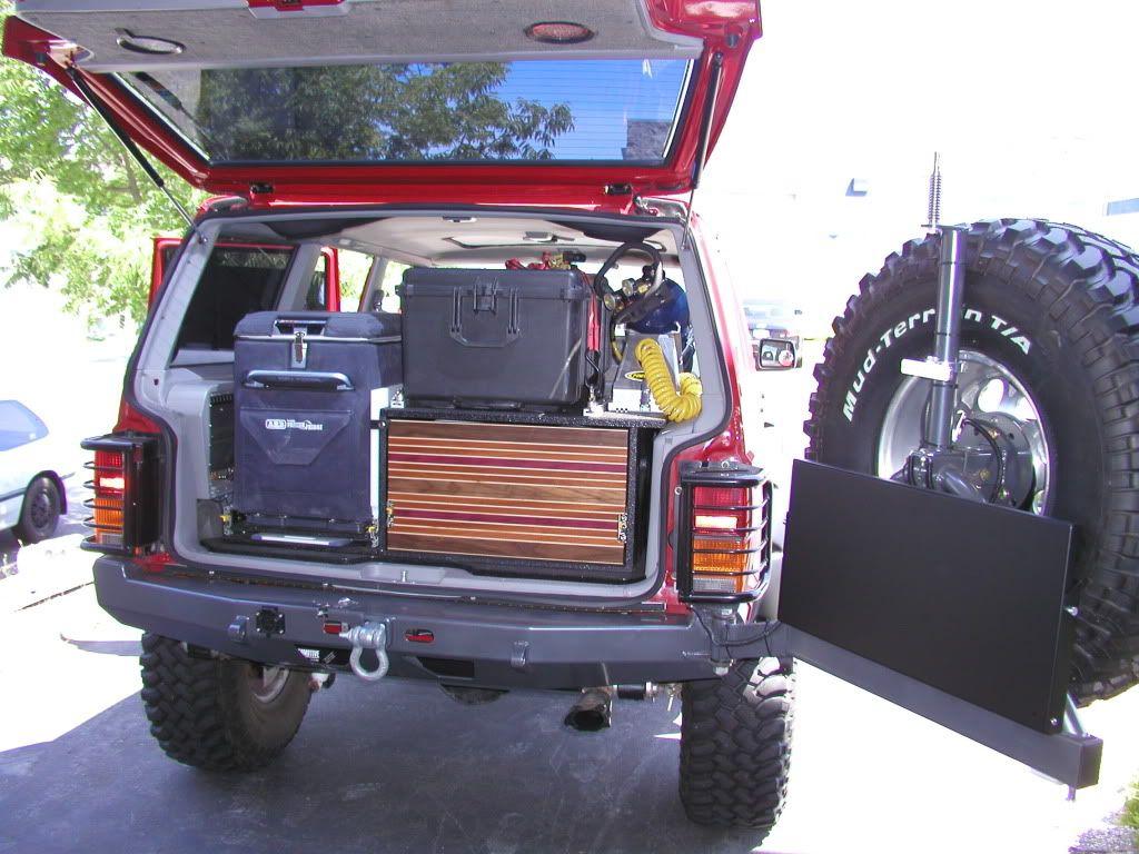 Jeep xj mods rear storage jeep cherokee xj mods