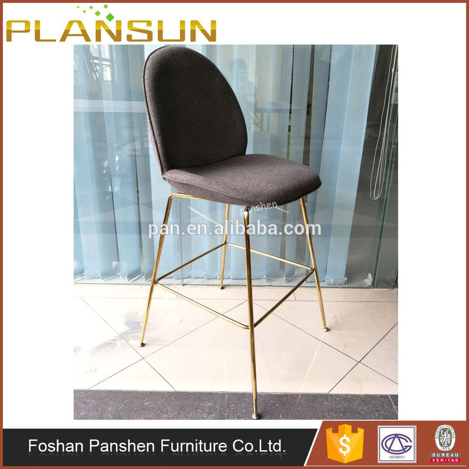 Bar furniture Gubi Beetle high stool with gold stainless steel base ...