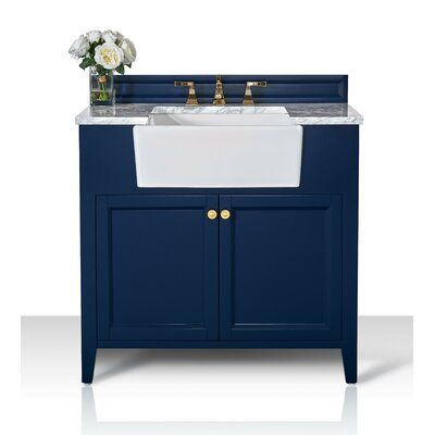 Ancerre Designs Adeline 36 In Vanity Set In White With Gold