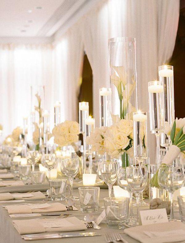 Long Table Wedding Centerpiece Ideas _Photography Abby Jiu