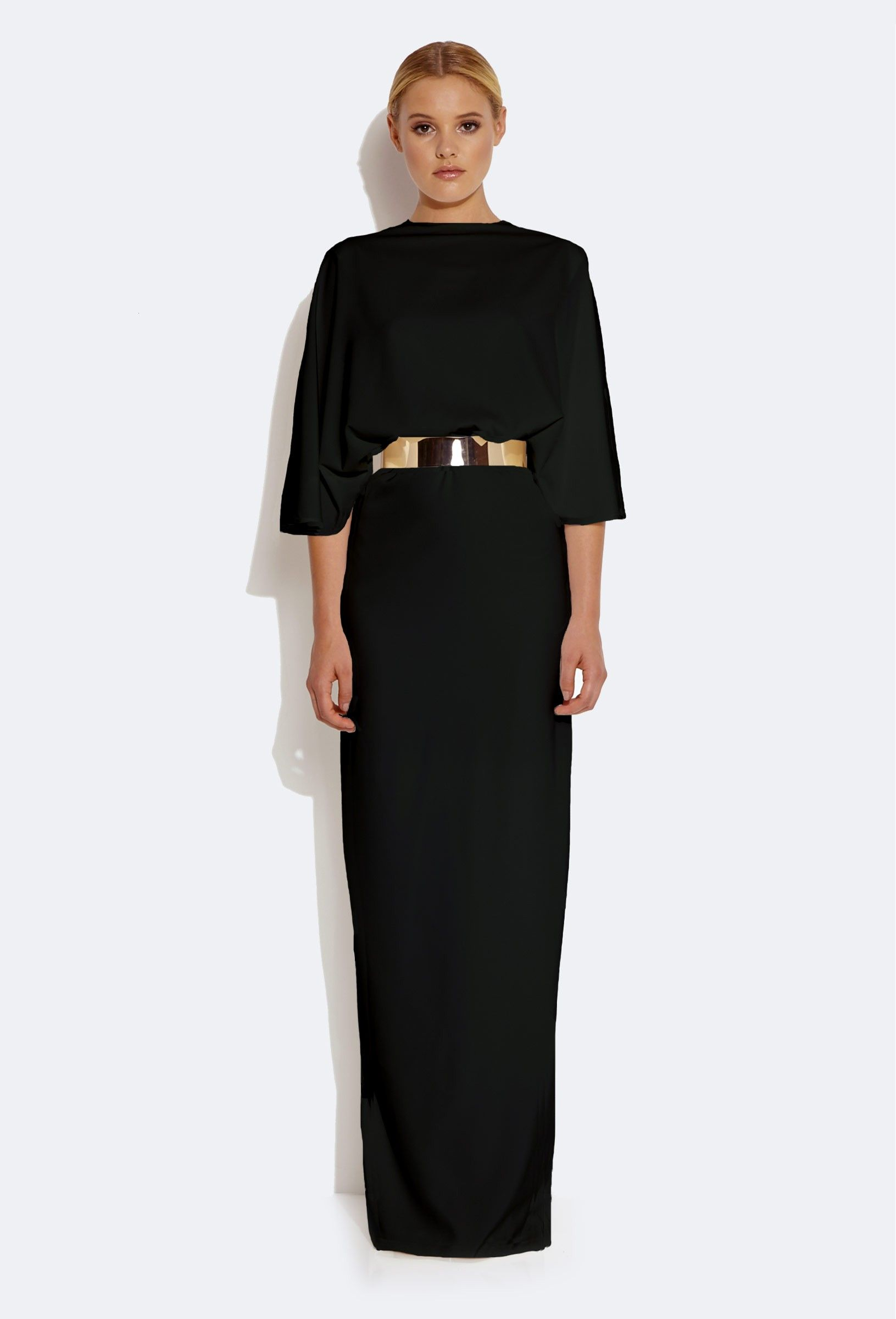 793835fc15e AQ AQ Sieber Kimono Sleeve Maxi Dress clothes Dresses