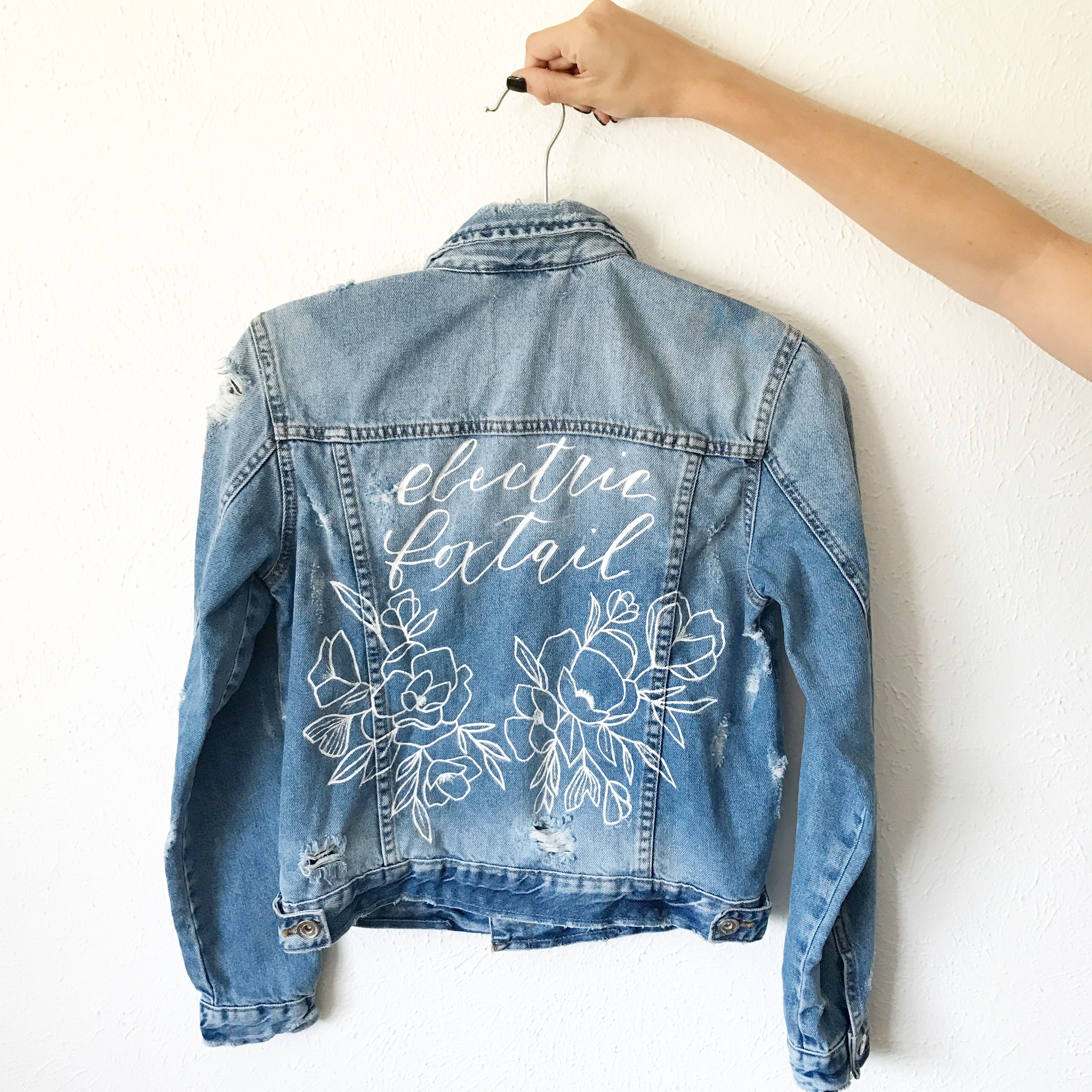 Hand Painted Jacket By Alli K Design Painted Jacket Diy Clothes Jackets Diy Summer Clothes [ 3024 x 3024 Pixel ]