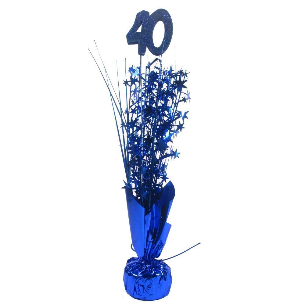 Blue 50th Birthday  Party  Foil Weight Centrepiece Spray Decoration
