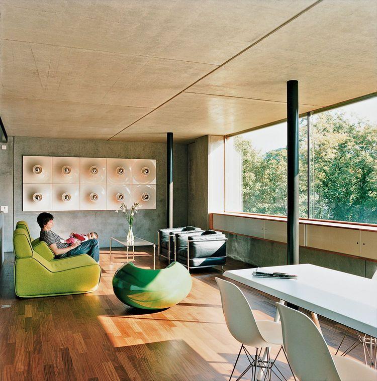 Wohnzimmer Mit Grosser Fensterfront Wohnzimmer Pinterest