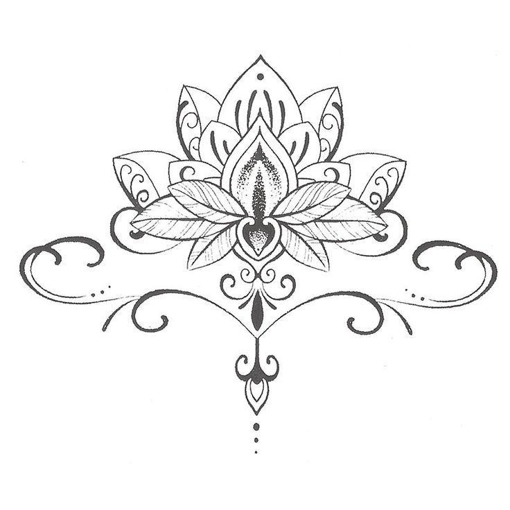 Image result for la fleur de lotus symbole | henna mehndi | Tattoos, Sternum tattoo, Mandala tattoo