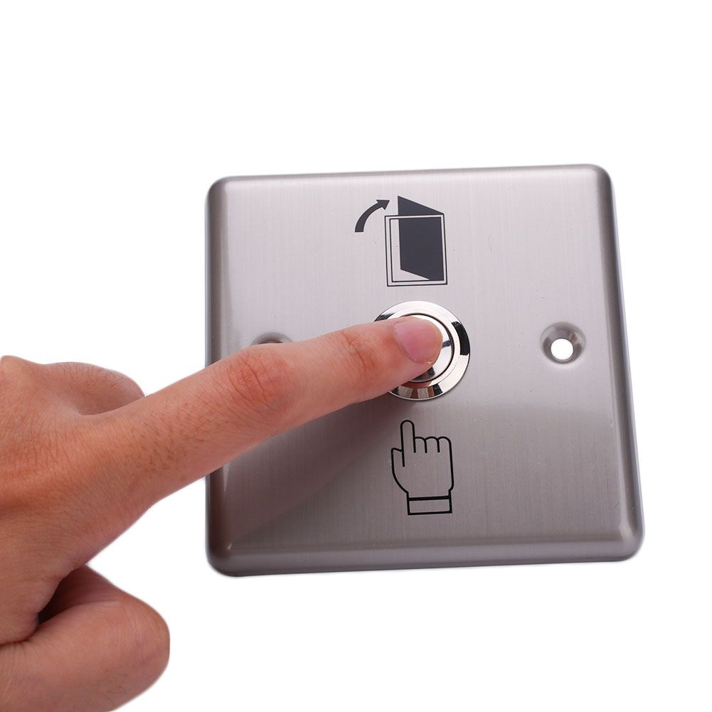 New Stainless Steel Doorbell Panel Wall Pad Button Momentary Switch Home Doorbell Chime Steel House Doorbell