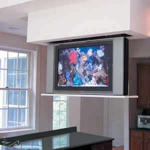 The Kitchen Tv Tv In Kitchen Floating House Family Room