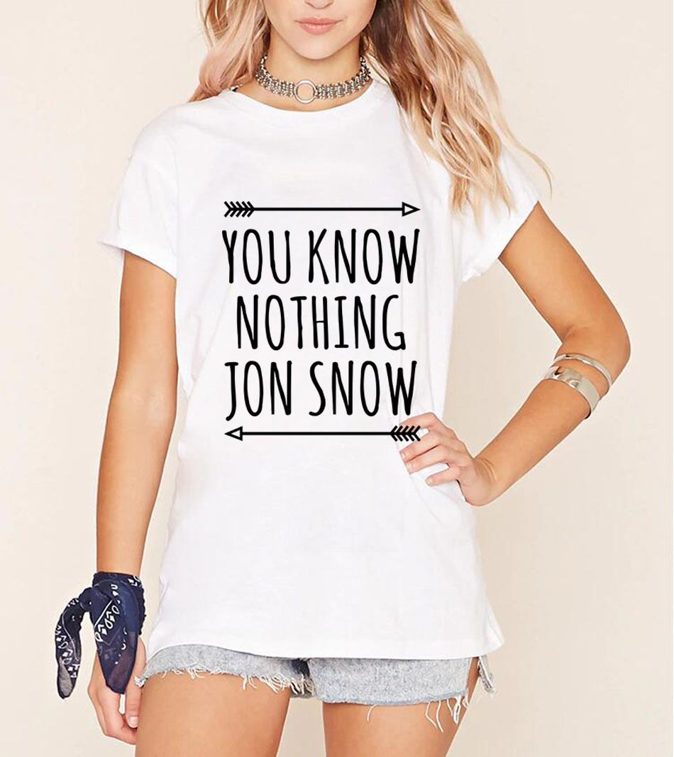 >> Click to Buy << 2017 new summer fashion streetwear casual Women Tshirt YOU KNOW NOTHING JON SNOW Print Funny Cotton T-Shirt women Tops Tees lady #Affiliate