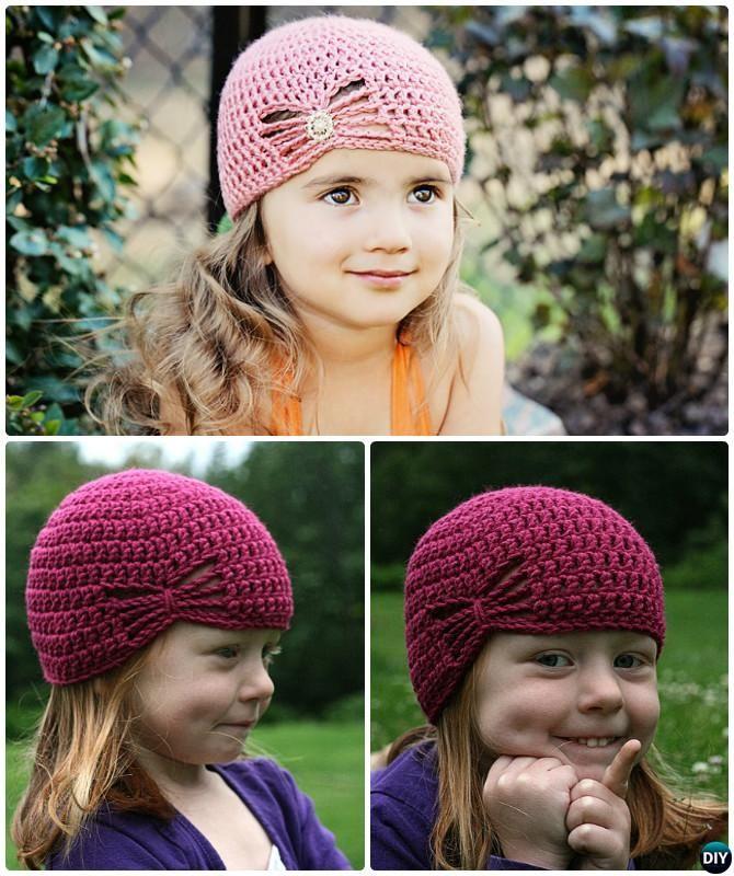 Crochet Butterfly Hat Free Pattern   rozne   Pinterest   Gorros ...
