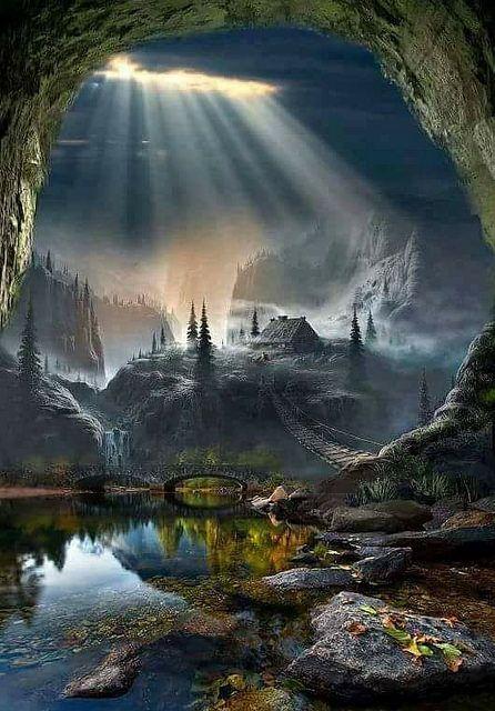 geheimnisvolle Landschaft- wunderschön