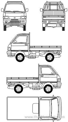Daihatsu Hijet Pick Up Daihatsu Mini Trucks Blueprints