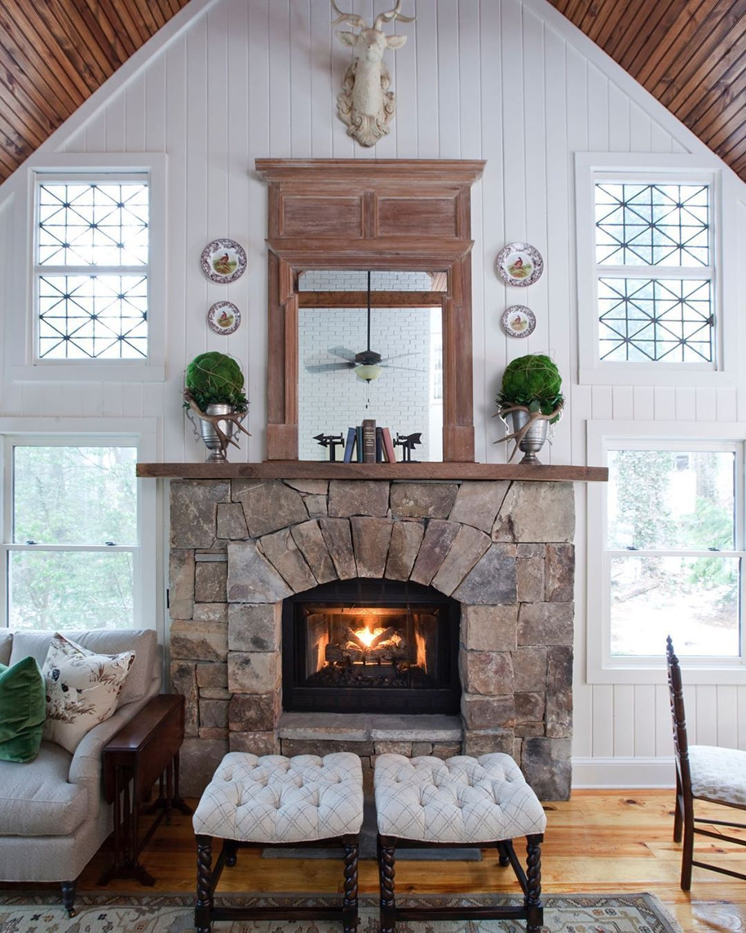 Ericrossinteriors On Instagram This Is The Living Room Of My Favorite Place On Earth Our Former Home In The Western North Carolina Mou French Cottage Country Style Homes Family Room