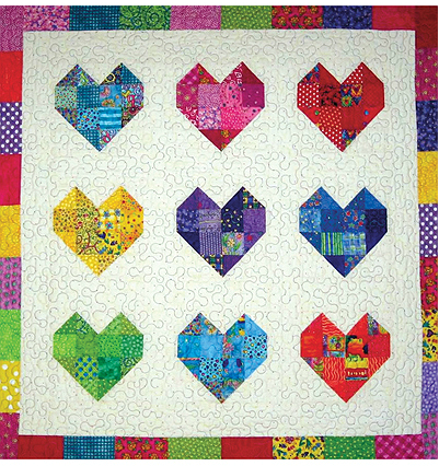 Scraps Are Perfect For This Sweet Quilt Scrappy Quilt Patterns Heart Quilt Pattern Quilt Patterns