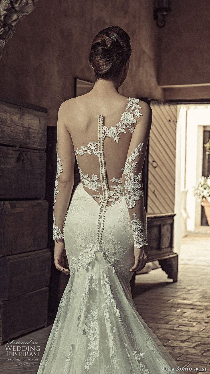 Long sleeve lace wedding dress mermaid  gala galia lahav spring  illusion long sleeves deep vneck