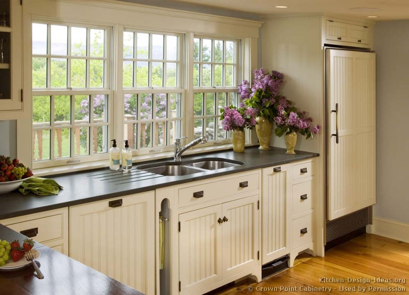 Country Kitchen Ideas Home Design And Decor Reviews Countertops Traditional White Cabinets