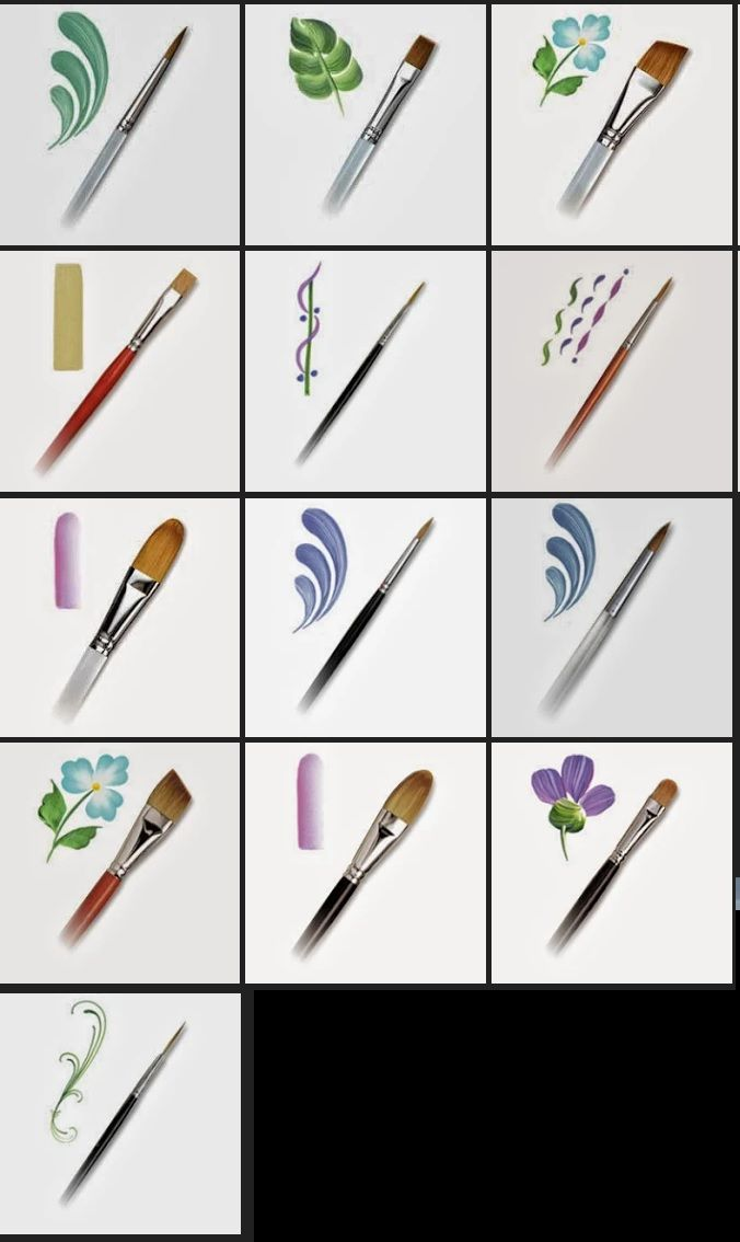Brushes And Applications Peinture En 2019 Pinceau Peinture