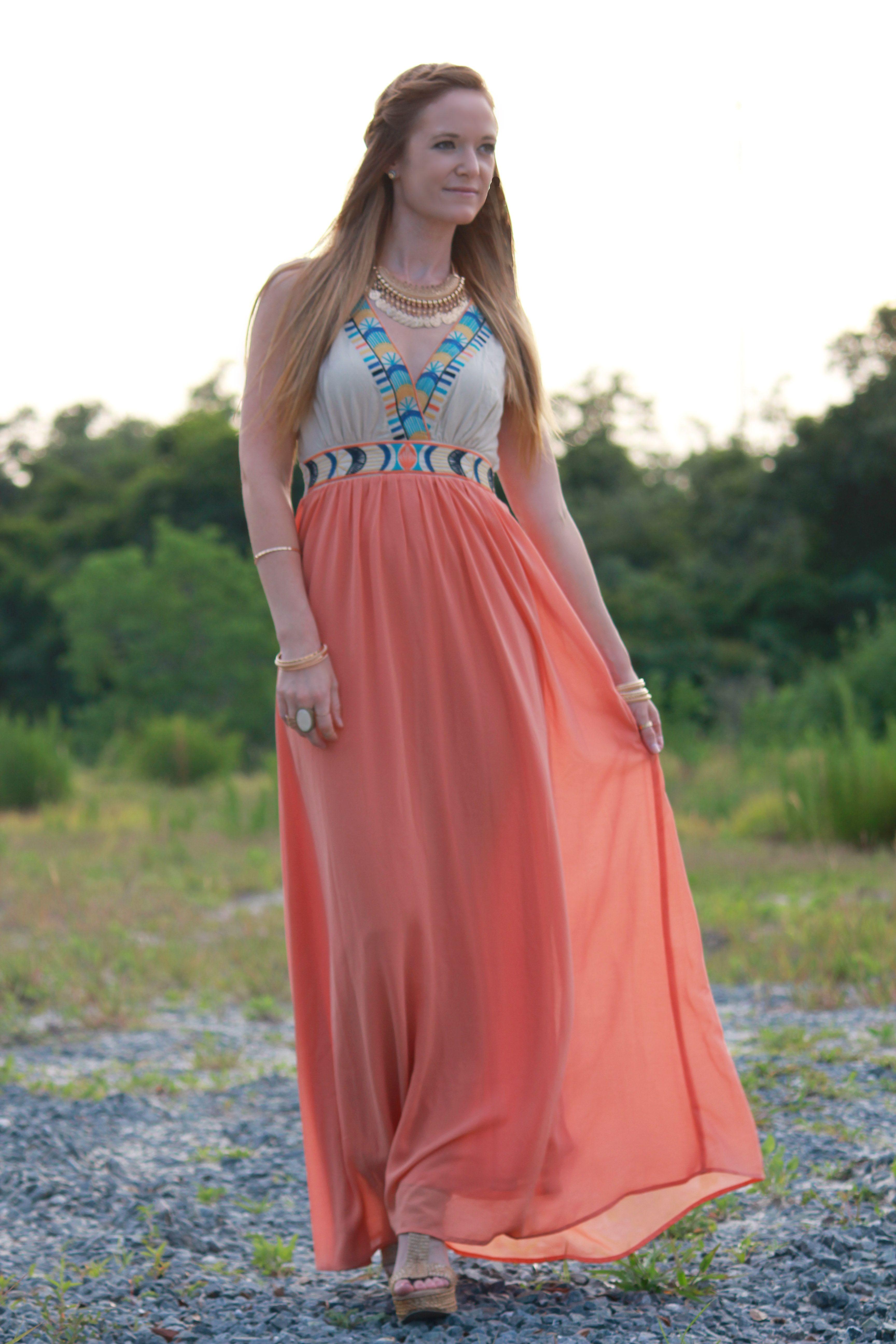 08f0b137ae Bohemian Sunset | Bohemian Theme Wedding Guest Outfit Ideas ...
