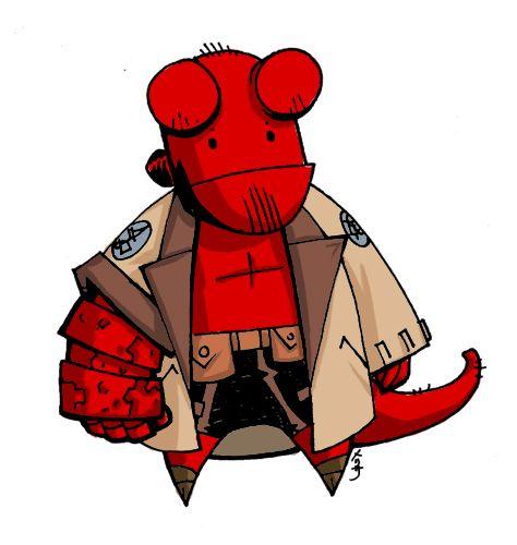 hellboy chibi by meluran deviantart com on deviantart stuff i rh pinterest co uk Spawn Logo Hellboy 3