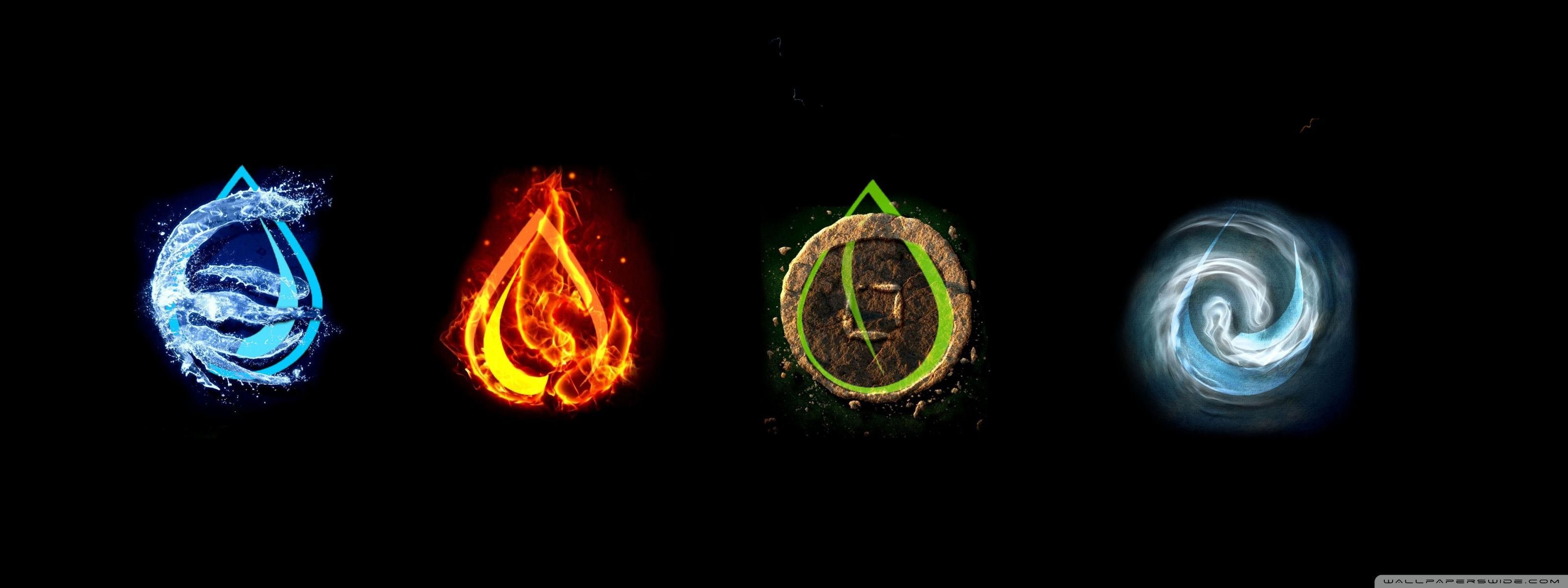 The four elements. | Four elements tattoo, Elements tattoo, Elements