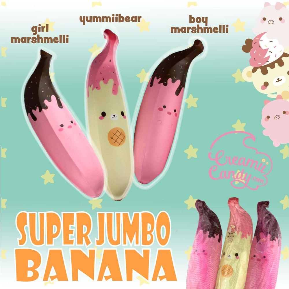Puni Maru Giant Pink Banana Squishy 35cm Huge Girl Marshmellii Piggy Slow Rising Chocolate Strawberry Banana Kotimart Com Pink Banana Squishies Jumbo Squishies