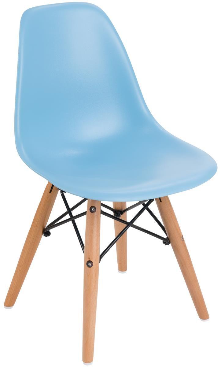 "12"" Children's Chair w/ Molded Plastic Seat & Wood Legs - White"