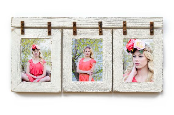 2 Barnwood Collage Frame 3 8x10 Multi Opening Frame Rustic Picture