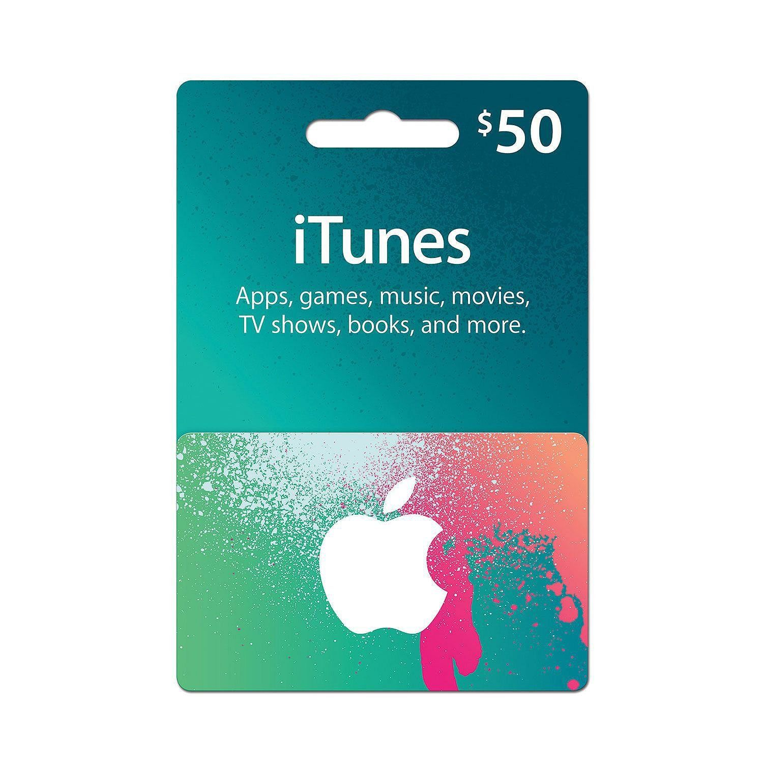 iTunes 50 Prepaid Gift Card (Physical Card) in 2019