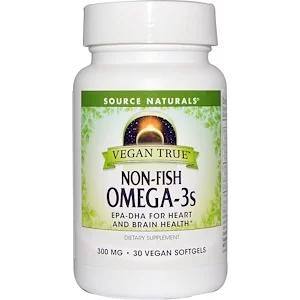Source Naturals Vegan True Non Fish Omega 3s 300 Mg 30 Vegan Softgels In 2020 Healthy Brain Vegan Vegetarian Life