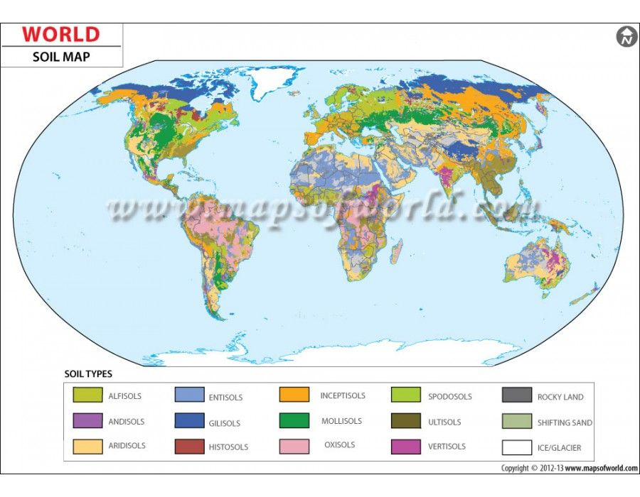Buy World Soil Map Online Digital - Where to buy a world map