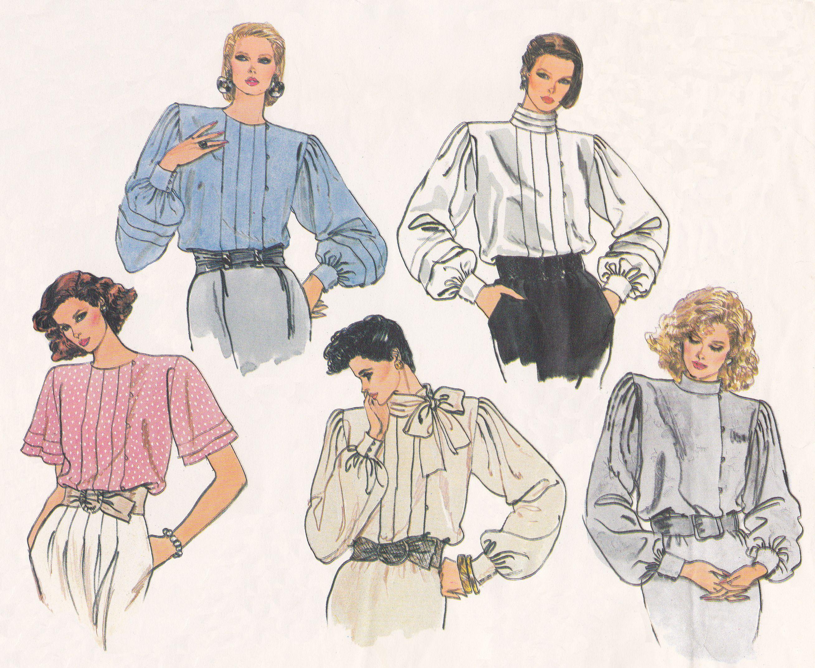1980\'s Women\'s Blouse from Vogue Designer Basic, pattern #1424 ...