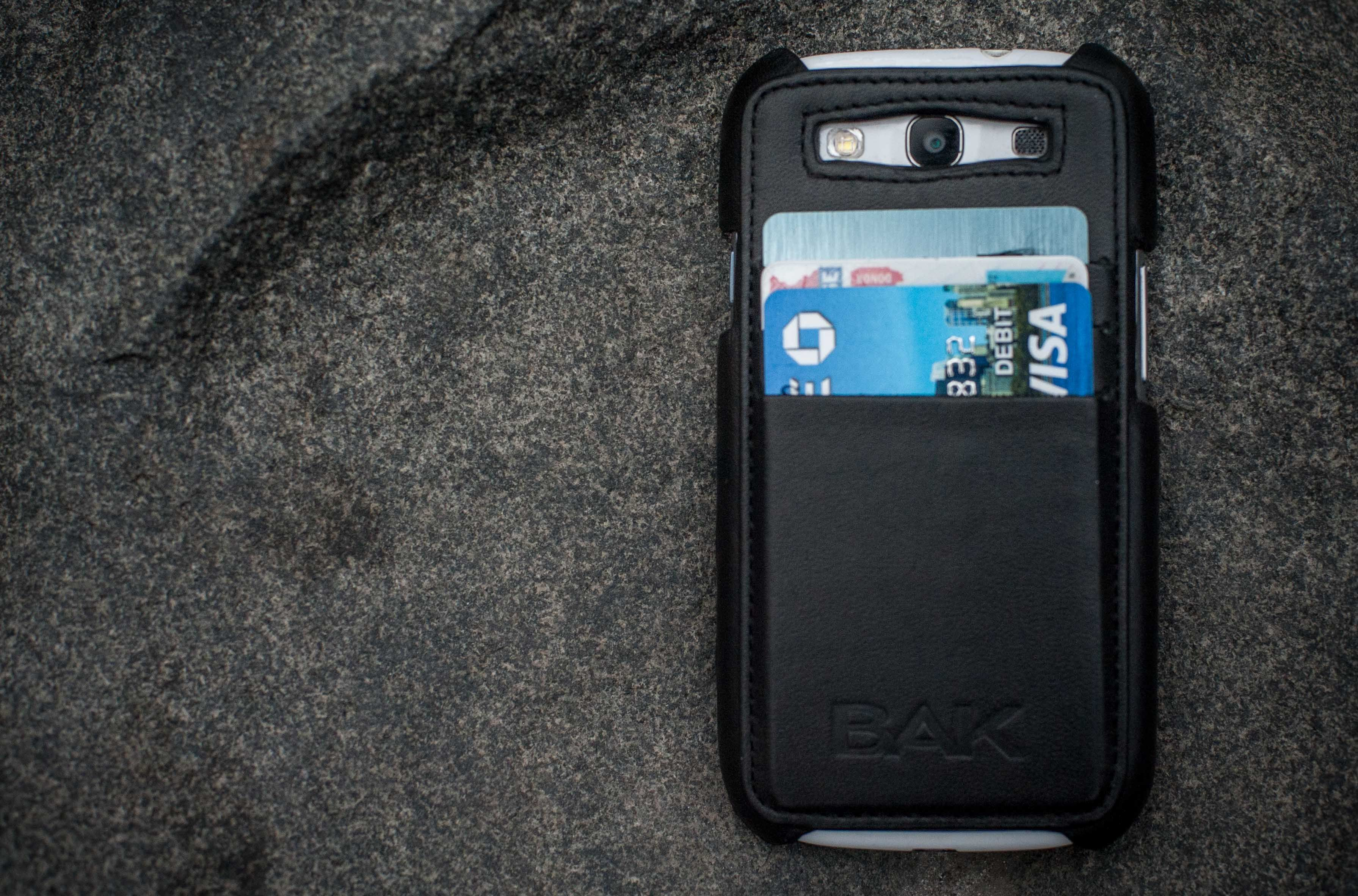 Hold your credit cards in a leather phone wallet any day
