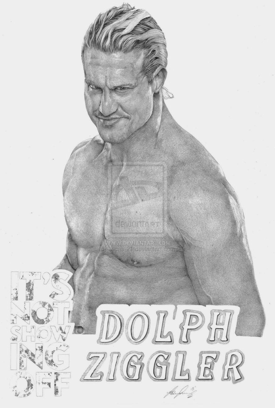 Dolph Ziggler by Lucas-21 on deviantART ~ WWE ~ traditional pencil ...