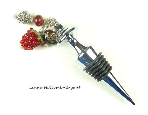 Hey, I found this really awesome Etsy listing at https://www.etsy.com/listing/198116737/wine-bottle-stopper-with-lampwork-beads