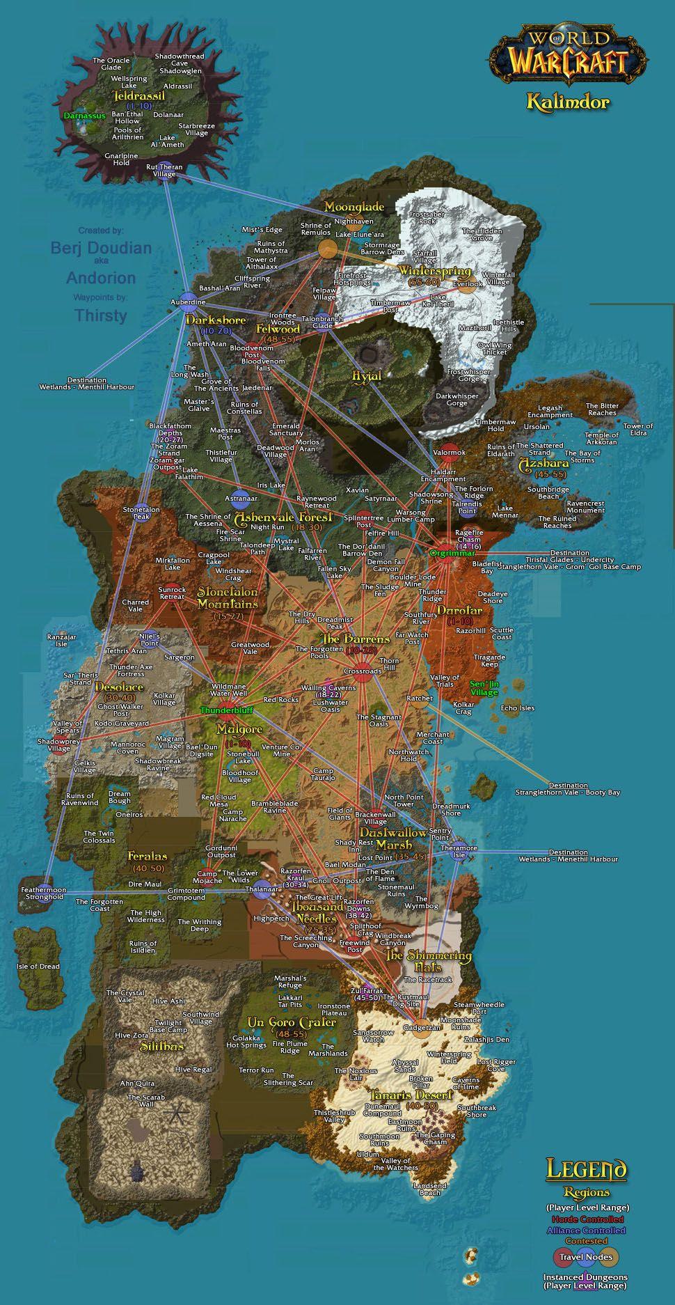 Eastern Kingdoms Map : eastern, kingdoms, Flight, Paths, Eastern, Kingdoms, Kalimdor, World, Warcraft