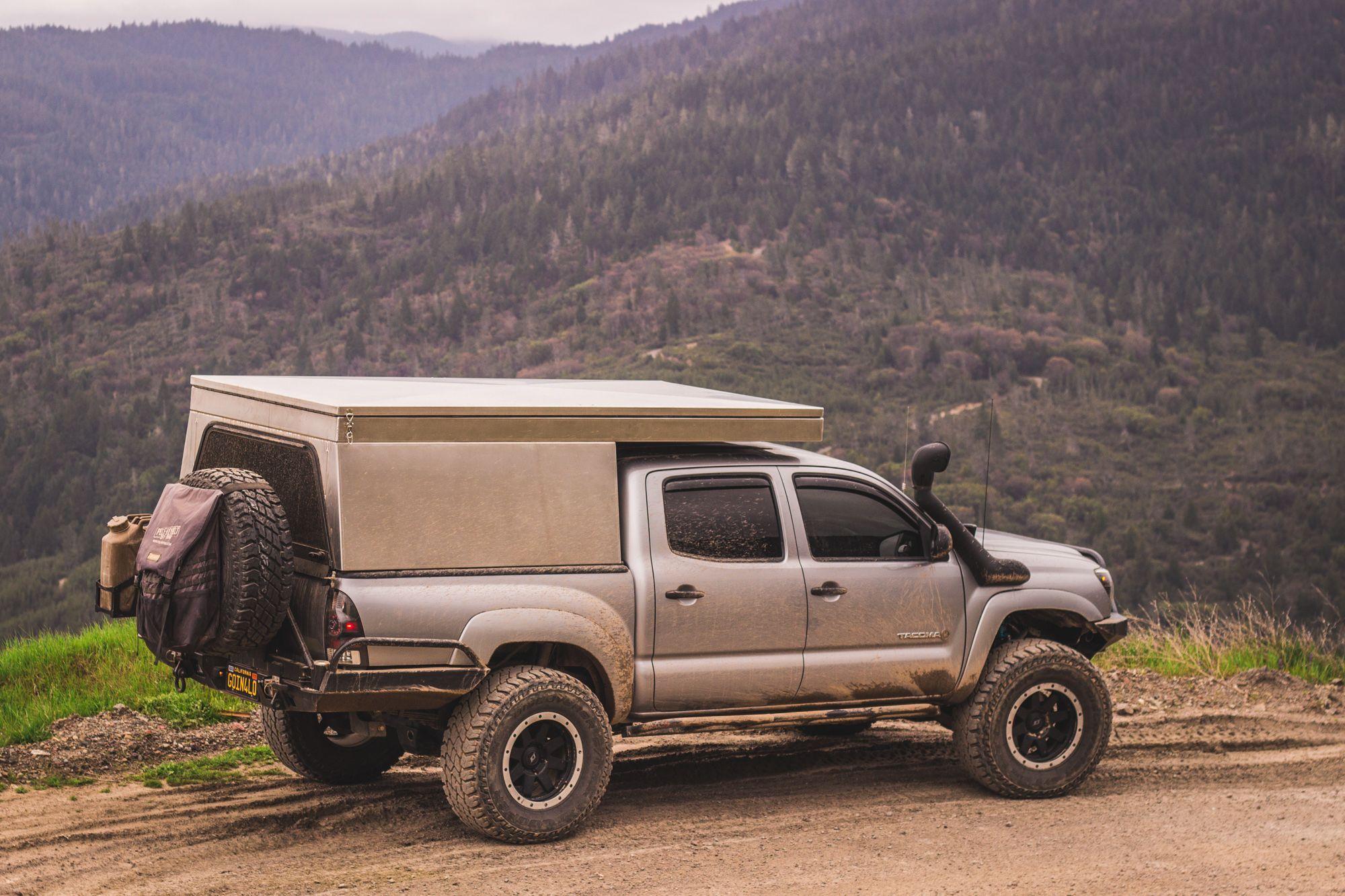 Vagabond Outdoors Drifter Shell Expedition Portal Camper Shells Pickup Camping Tacoma Truck