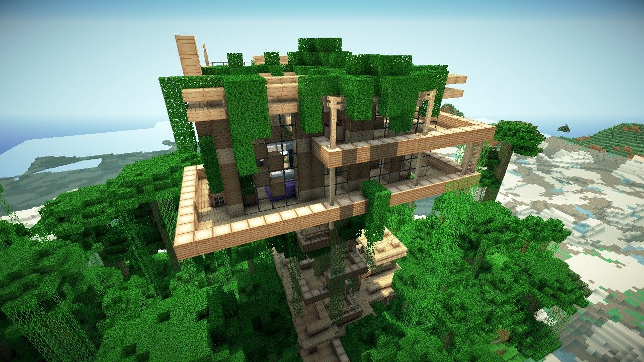 Minecraft Jungle Tree Houses Wallpaper Fashion Trends - Modern house jungle