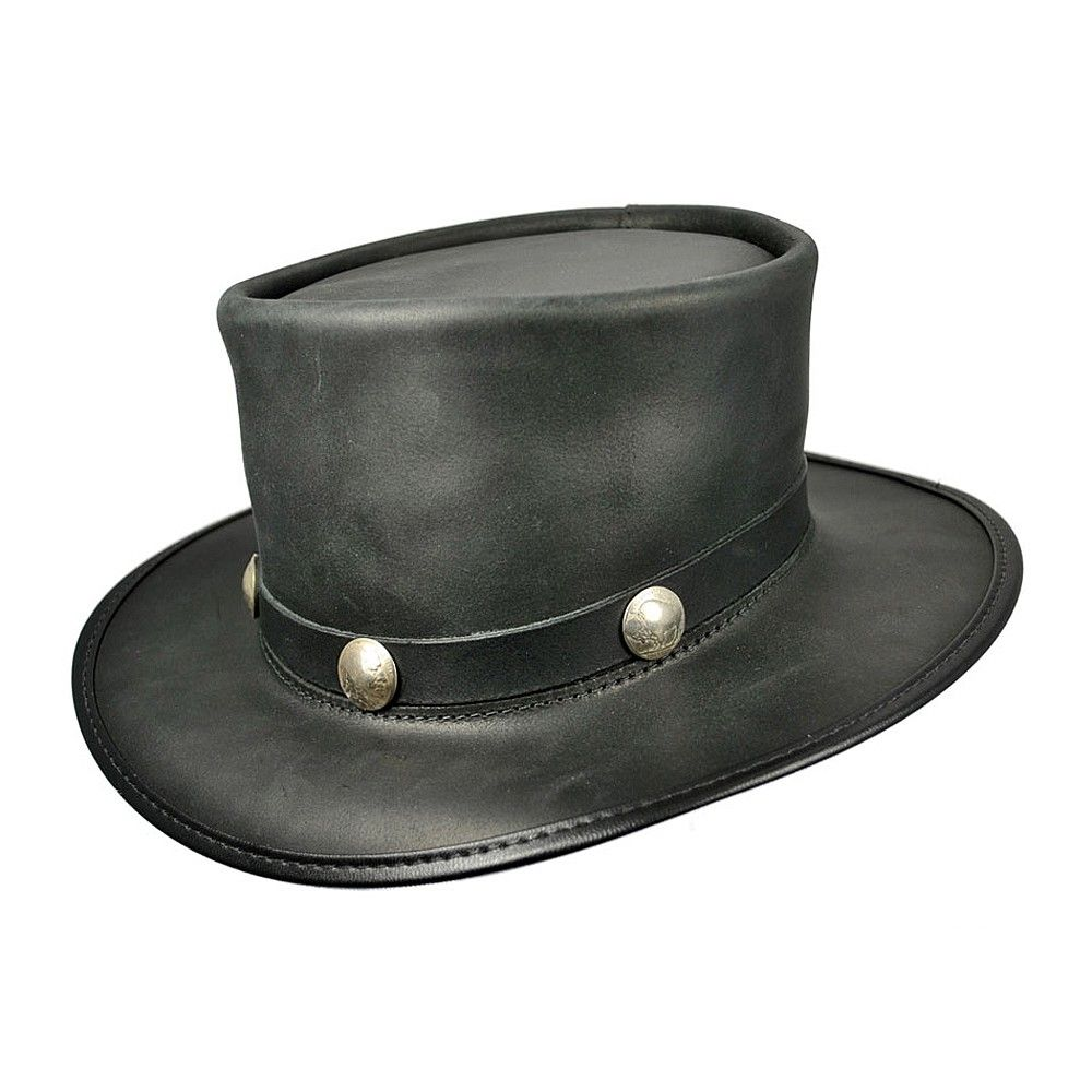 9133c9a983df5 Chapeau Haut de Forme El Dorado en Cuir HEAD N HOME | Chapeaux ...