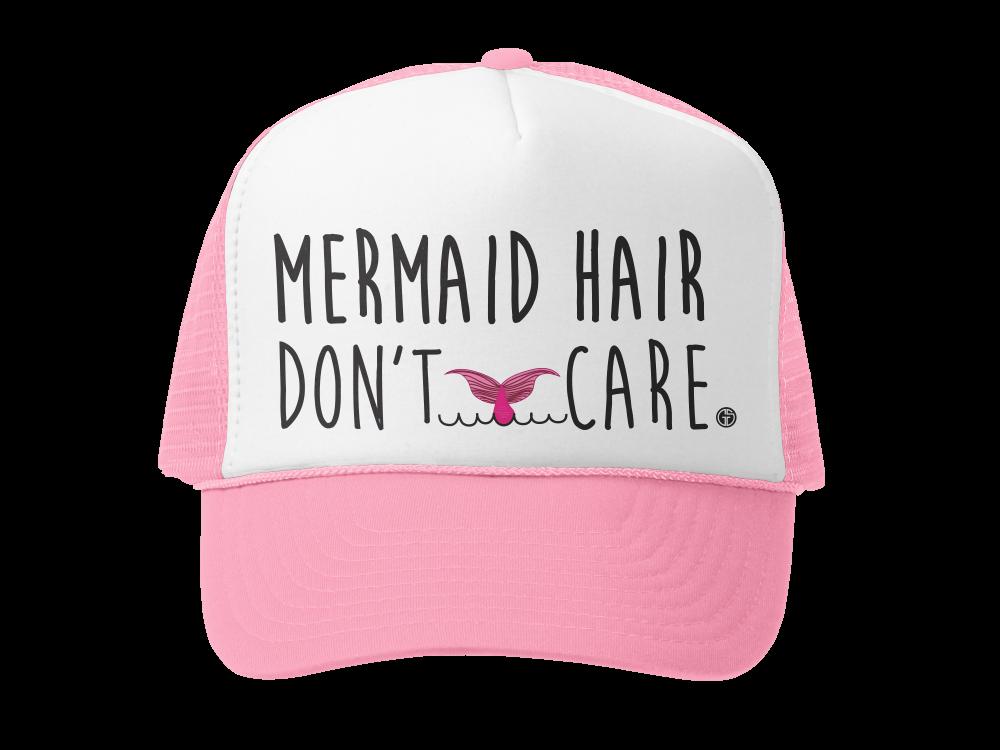 """Mermaid Hair Don't Care"" Girls Hat"