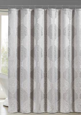 J Queen New York Constance Shower Curtain Silver Standard Shower Curtain Queens New York Queen News Curtains
