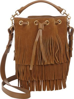 Saint Laurent Fringe Small Bucket Bag On Style Co Uk